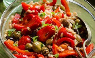 insalata di Farro e peperoni al forno 2