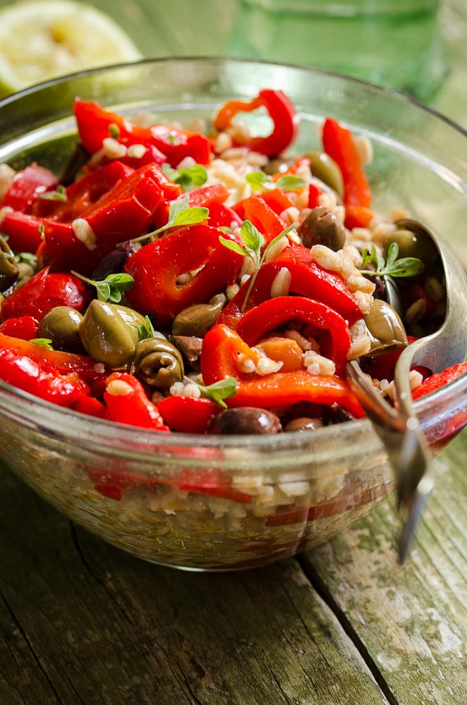 insalata di Farro e peperoni al forno 3