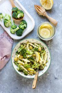Pasta fresca ai broccoli, olive verdi e limone confit, due ricette con un post