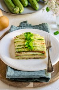 Zucchini Week: Millefoglie di Zucchine, Scamorza e Prosciutto