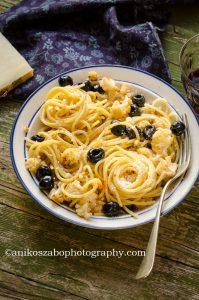 Pasta al cavolfiore arrostito ed olive