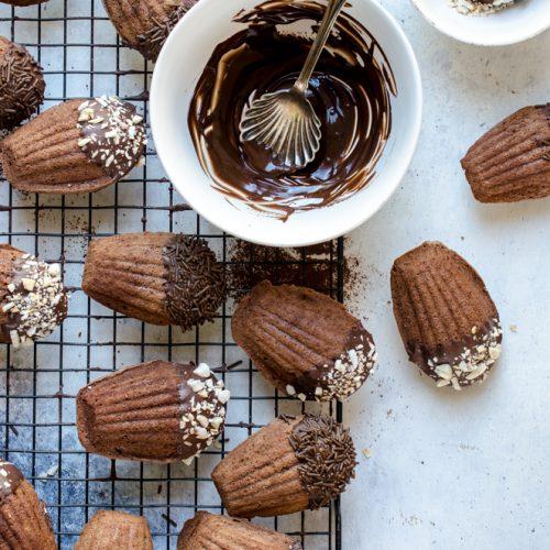 Madeleines al cioccolato fondente