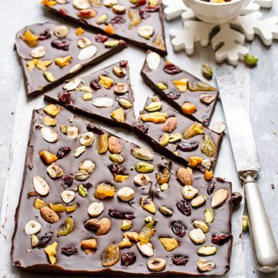 Tavoletta di cioccolato fondente con Frutta & Noci