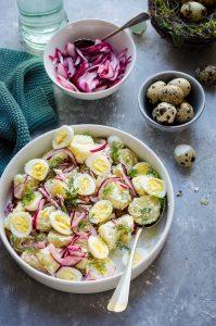 Insalata germanica …di patate ed uova di quaglia