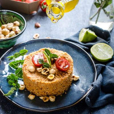 THE LUNCH BOX : Cous cous mediterraneo con nocciole e zenzero di Filippo La Mantia