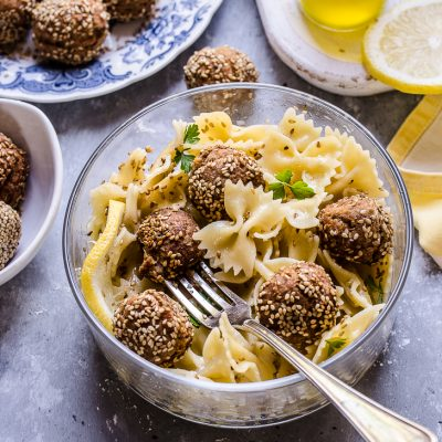 THE LUNCH BOX: Farfalline, limone e polpette