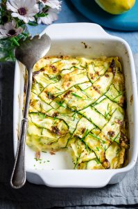 Lasagne alle zucchine e stracchino al profumo di limone